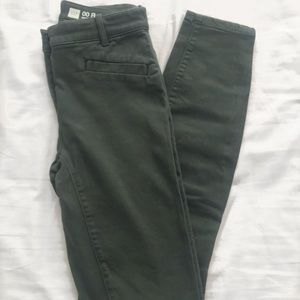 High Waisted GAP Army Green Skinny Jeans